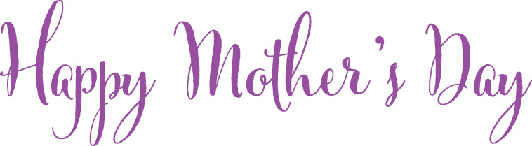 Happy Mother's Day in purple script.