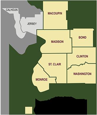 Service Area Map - Illinois