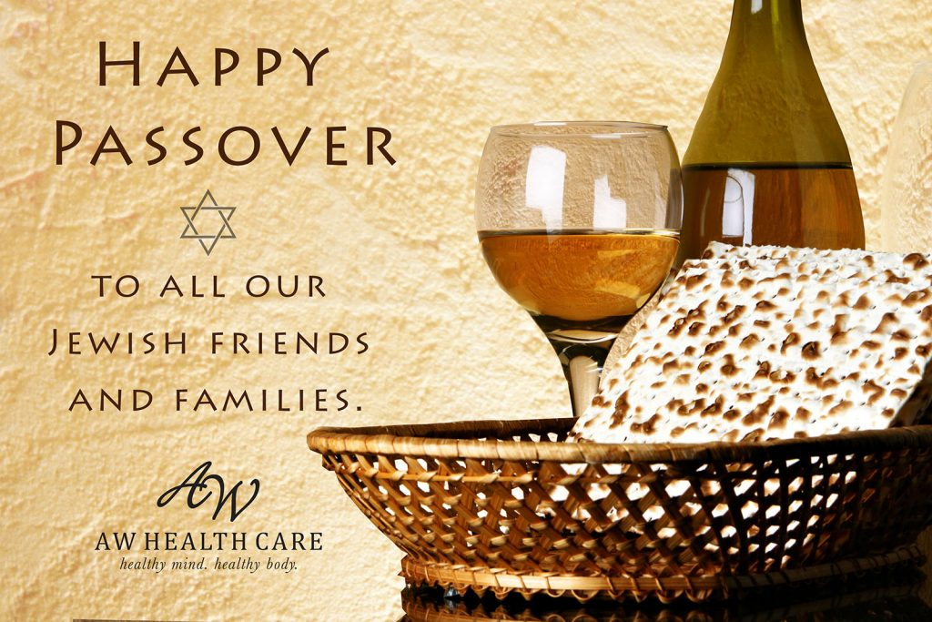 Passover Greeting: Rustic background with wine, wine glass and matzoh cracker in basket.